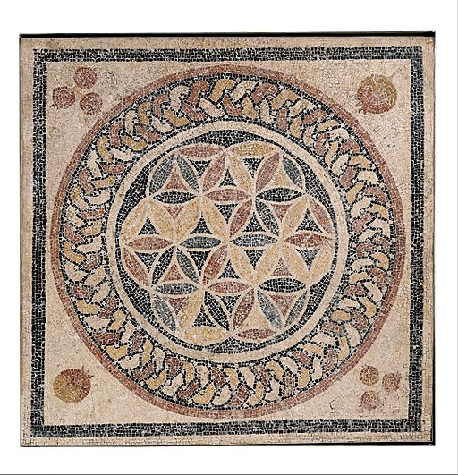 Mosaic floor from a bathhouse in Herod's palace - Google Art Project