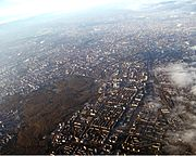 Moscow aerial view looking towards the south-east