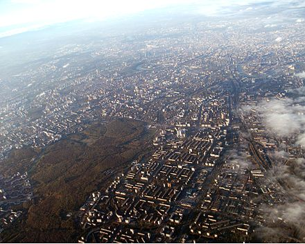 Aerial view of Moscow Moscow aerial view looking towards the south-east.JPG