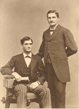 Moses H. Cone - Moses Herman Cone (sitting) and his brother Ceasar Cone