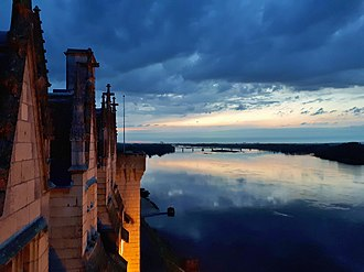 Loire Valley - Sunset on the Loire River from the Château de Montsoreau-Museum of Contemporary Art