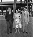 Mr. & Mrs. John Payson Adams with Cortright Wetherill at the Hialeah Racetrack. - BM00312.jpg