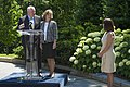 Mrs. Karen Pence and Secretary Perdue Unveil Bee Hive at Vice President's Residence 20170606-OSEC-PJK-0433 (35008709381).jpg