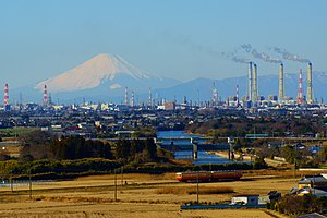 Mt. Fuji and Keiyo petrochemical complex.JPG