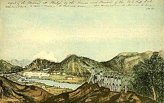 Battle of Mulege - American forces after capturing the hill at Mulege.