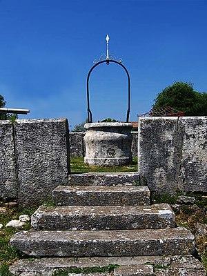 Muntic - Medieval water cistern - šterna at the Muntić Placa