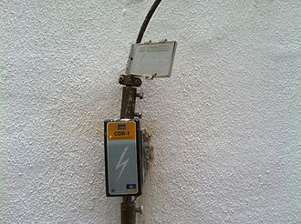 Lightning detection - Lightning strike counter in a Museum Patio