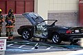 Mustang car fire at CVS on Key West Highway in North Potomac MD July 12 2012 (7575646858).jpg