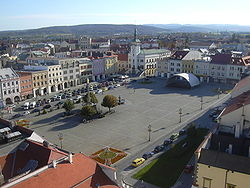 Town square seen from the Kroměříž Castle tower