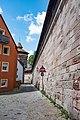 Nürnberg, Stadtbefestigung, Stadtmauer südlich Grünes M 20170616 001.jpg