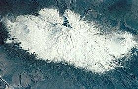 Vue du mont Ararat depuis la Station spatiale internationale.