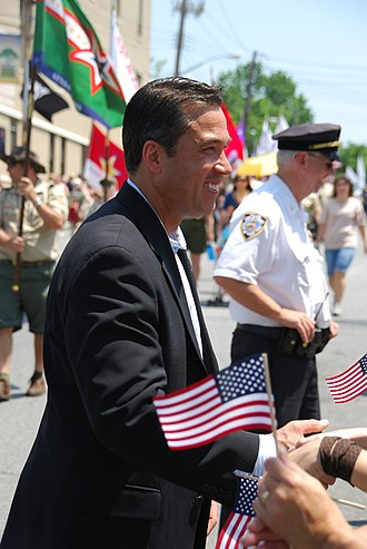 Michael Grimm (politician) - Grimm greets spectators on Memorial Day