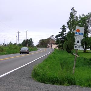Nova Scotia Trunk 6 - Nova Scotia Trunk 6 in the community of Toney River
