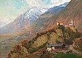 N J Holm Blick auf Schloss Tirol c1900.jpg