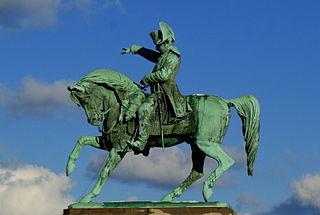 equestrian statue of Napoleon