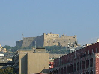 Castel Sant'Elmo - Castle as seen from Castel dell'Ovo.