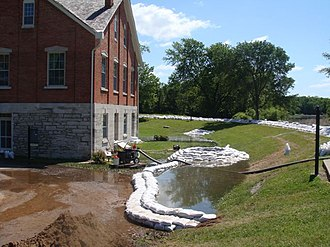 Nauvoo, Illinois - Nauvoo House during 2008 Flood