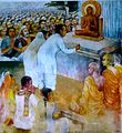 Nava Jetavana Temple - Shravasti - 015 Dr Ambedkar and his Followers become Buddhists in 1955 (9241722749).jpg