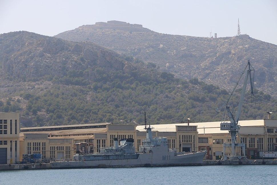 Naval vessel in Cartagena in Spain 2016 - Holmstad