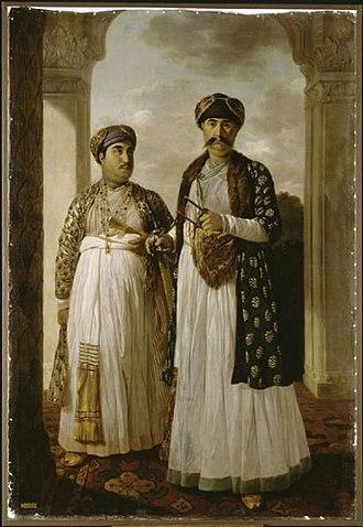 Shia Islam in India - Nawab Shuja-ud-Daula and his heir Nawab Asaf-ud-Daula at Faizabad