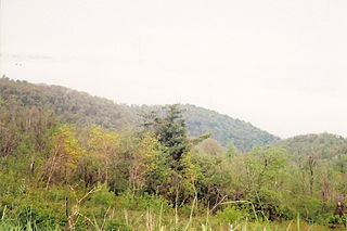Thornton Gap wind gap in Virginia, United States