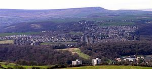 Netherton, Kirklees - View of Netherton and South Crosland from Castle Hill, Huddersfield