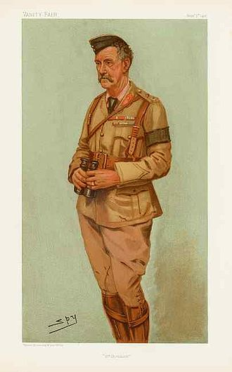 """Neville Lyttelton - """"4th Division"""". Caricature by Spy published in Vanity Fair in 1901."""