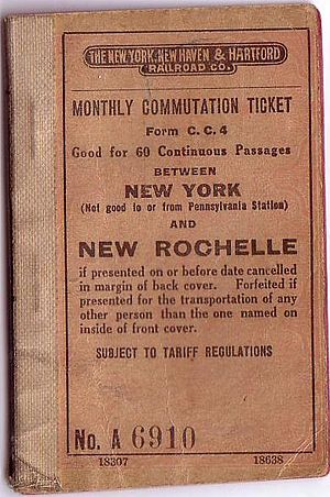 New Rochelle station - Image: New Rochelle Ticket Book