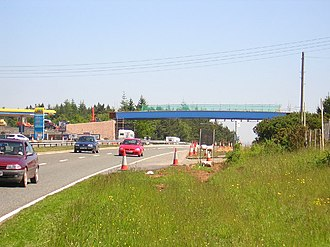 Haldon Hills - Image: New A380 bridge
