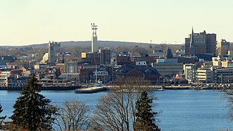 New London, Connecticut - New London skyline from Fort Griswold