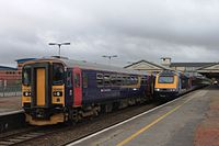 Newton Abbot - FGW 153329 and 43127.jpg