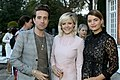 Nick Grimshaw, Francesca Burns and Pixie Geldof September 2014.jpg