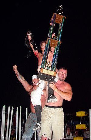 CZW Tournament of Death - Nick Mondo after winning the TOD2.