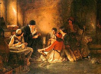 "Emfietzoglou Gallery Museum - Nikolaos Gyzis, ""To kryfó scholió"", Oil painting, 1885/86.(Emfietzoglou collection)"