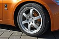 Nissan 350Z Premium Pack sunset orange, 2003, RAYS Wheels Brembo.jpg