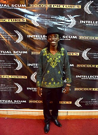 Njue Kevin - Njue at the private screening of Intellectual Scum, at Safaricom House.