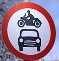 No cars and motorcycles Belgium sign.jpg