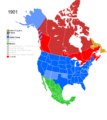 Non-Native American Nations Control over N America 1901.png