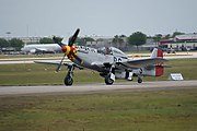 North American P-51D-30-NA Mustang Old Crow N451MG Taxi Out 01 SNF 04April2014 (14399721278).jpg