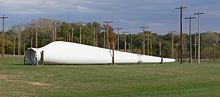 Turbine blade lying on ground