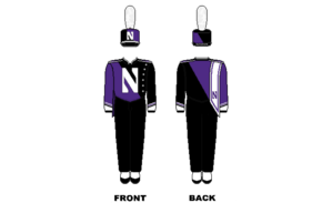 Northwestern University Wildcat Marching Band - Image: Northwestern Marching Band Uniform