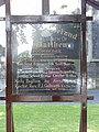 Notice Board at St Matthew's Broomhedge - geograph.org.uk - 1415327.jpg