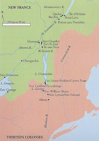Île aux Noix - Location of Fort Île aux Noix