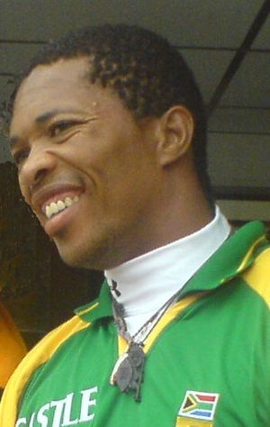 Makhaya Ntini - Ntini at Edgbaston, 31 July 2008.