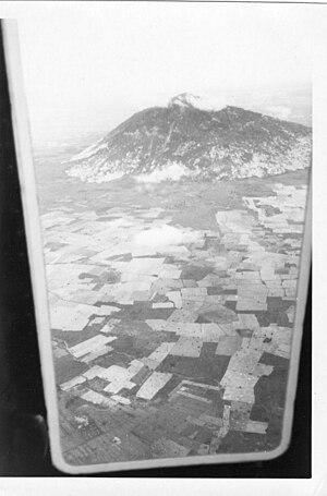 Black Virgin Mountain - Núi Bà Đen aerial view, 1971