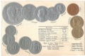 Numismatic post-card with contemporary coins - The Kingdom of Yugoslavia.png