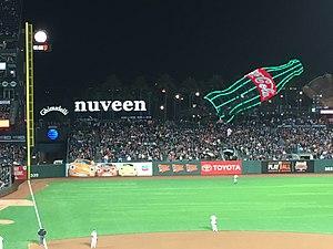 Nuveen - Nuveen sign at AT&T Park, San Francisco Giants, 2017
