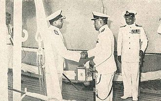 Bhaskar Sadashiv Soman - Soman (right) with OB Sjaaf of the Indonesian Navy, 1960