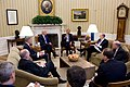 Obama discusses Egypt National Security Jan 2011.jpg
