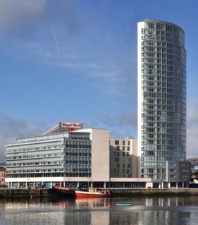 Obel Tower highrise building in Belfast, Northern Ireland